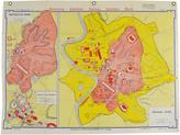 Rejuvenation Mid-Century Denoyer-Geppert Map Book of Imperial Rome c1955