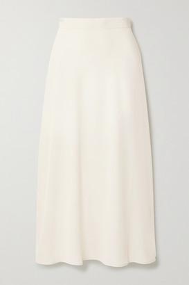 Co Satin Midi Skirt - Ivory