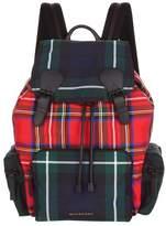 Burberry Large Patchwork Tartan Backpack