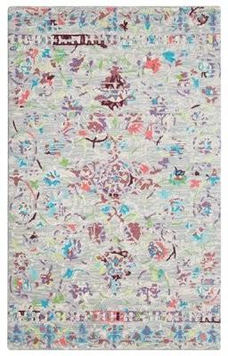 Company C Sundara Floral Handmade Tufted Wool Off-White Area Rug CompanyC Rug Size: Rectangle 5' x 8'