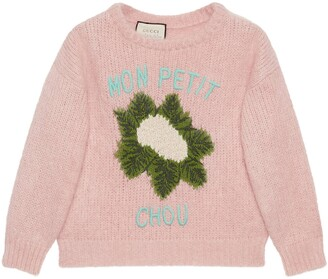 Gucci Mohair crop sweater with cauliflower