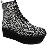 C Label Black Leopard Nata Platform Boot