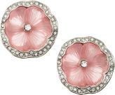 Kenneth Jay Lane Flower Rhinestone Clip Earrings