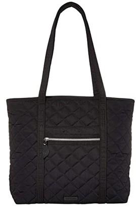 Vera Bradley Iconic Performance Twill Vera Tote (Black) Tote Handbags