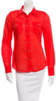 Tory Burch Brigitte Button-Up Top w/ Tags