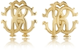 Roberto Cavalli RC Lux Golden Stud Earrings