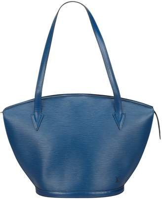 Louis Vuitton Vintage St Jacques Blue Leather Handbag