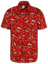 George Red Reindeer Print Christmas Shirt