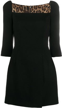 Dolce & Gabbana Short Double Crepe Dress