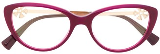 Bvlgari Cat Eye Floral Decal Optical Glasses