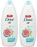Dove Go Fresh Restore Body Wash, 22 oz (Pack of 2)