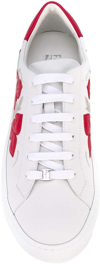 Salvatore Ferragamo floral applique sneakers