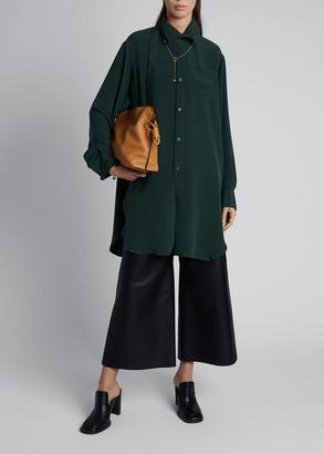Loewe Long-Sleeve Silk Button-Down Shirt