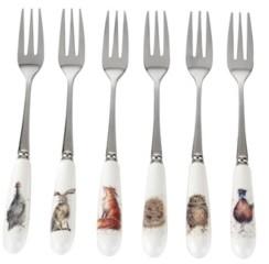 Royal Worcester Wrendale Pastry Forks Set of 6