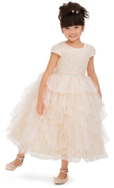 Rare Editions Toddler Girls Embroidered Lace Fairy Gown