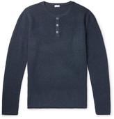 Schiesser Julius Waffle-Knit Wool and Cashmere-Blend Henley T-Shirt