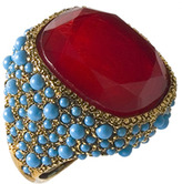 Kenneth Jay Lane Ruby Dream Cocktail Ring