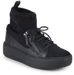 Giuseppe Zanotti Lace-Up Sock-Lined Sneakers