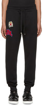 Dolce & Gabbana Black Embroidered Lounge Pants