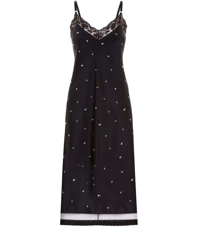 Alexander Wang Floral Stud Slip Dress