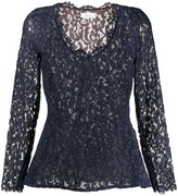 Saint Laurent Pre Owned 1990's lace peplum top