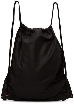 Guidi Black Drawstring Backpack