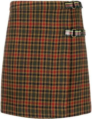 Etro Checked Wrap Mini Skirt