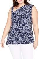 Rachel Roy One-Shoulder Floral Top