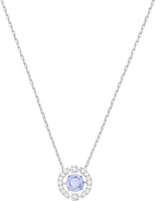 Swarovski Women's Sparkling Dance Round Necklace Stunning Necklace with Crystals Rhodium Plated from the Sparkling Dance Collection