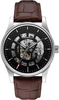 JCPenney CARAVELLE, NEW YORK Caravelle New York Mens Stainless Steel Skeleton Automatic Watch 43A123