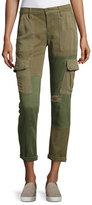 Hudson Riley Two-Tone Utility Cargo Pants, Green Pattern
