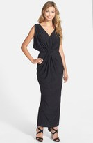 T-Bags Tbags Los Angeles Draped Front Knot Maxi Dress