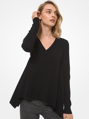 Michael Kors Collection Draped Cashmere Asymmetric Sweater