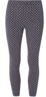 Dorothy Perkins Womens Blue Floral Cropped Bengaline Trousers- Blue