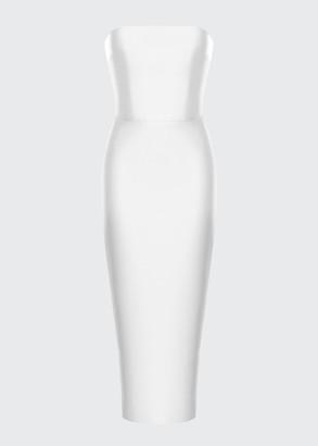 Rasario Strapless Body-Con Satin Dress