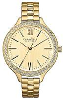 Caravelle New York Carvelle New York Gold Women's Quartz Watch with Champagne Dial Analogue Display and Gold Stainless Steel Bracelet 44L154