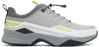 HUGO BOSS Grey and White Block Running Sneakers