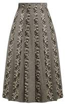 Sophie Theallet Joline Prince of Wales-checked pleated skirt