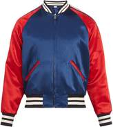 Gucci Reversible striped-detail satin bomber jacket