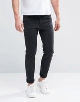 Asos Selvedge Skinny Jeans In 13oz Black