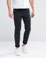 Asos Selvedge Skinny Jeans In 13oz Black