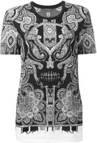 Alexander McQueen engineered paisley T-shirt - women - Cotton - 38