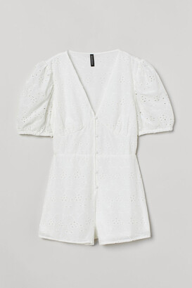 H&M Puff-sleeved playsuit