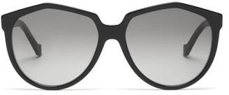 Loewe Oversized Round Acetate Sunglasses - Black