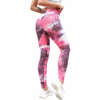 DODOYA Bubble High Waisted Leggings for Women