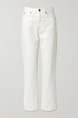 SLVRLAKE Dakota High-rise Straight-leg Jeans - White