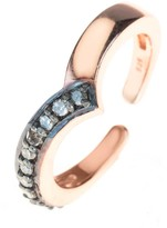 Rosegold Latelita Diamond Midi Ring Chevron
