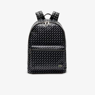 Lacoste Men's LIVE Coated Print Canvas Backpack