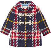 Gucci Baby check wool pea coat