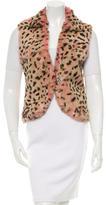 Jocelyn Printed Fur Vest w/ Tags